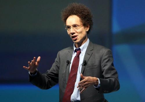Malcolm Gladwell, keynote speaker at Centrallia at the Winnipeg Convention Centre, Wednesday, October 10, 2012. (TREVOR HAGAN/WINNIPEG FREE PRESS)