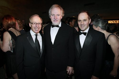 October 20, 2012 - 121020  -  Sam Katz, Guy Maddin and Stephen Borys, executive director of Winnipeg Art Gallery pose at the Winnipeg Art Gallery's The Centennial Ball in Winnipeg Saturday, October 20, 2012.  John Woods / Winnipeg Free Press