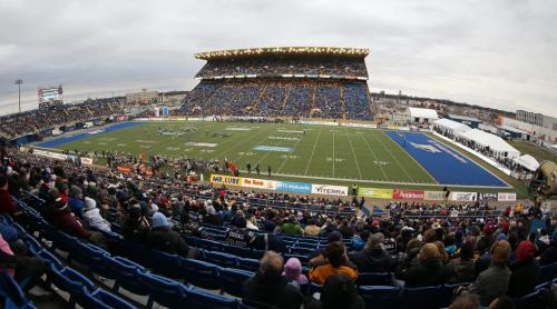 The Winnipeg Blue Bombers' against the Montreal Alouettes' in the final game at Canad Inns Stadium, Saturday, November 3, 2012. (TREVOR HAGAN/WINNIPEG FREE PRESS)
