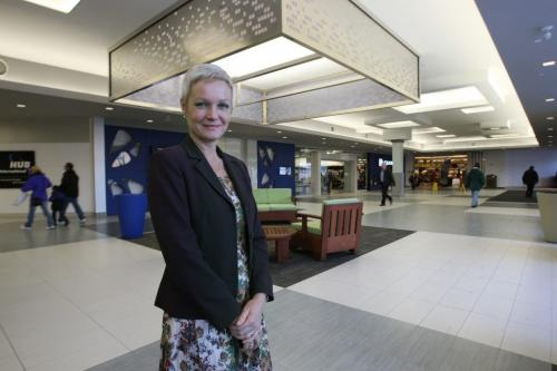 Grant Park Shopping Centre's general manager, Sandra Hagenaars-The mall is in the midst of an $12-million-plus redevelopment that included extending the MLCC outlet to the front of the mall and re-doing much of the common area  -See Murray McNeil story– November 16, 2012   (JOE BRYKSA / WINNIPEG FREE PRESS)