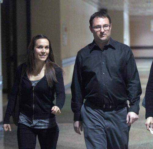Christopher Zalevich, right, the untrained social worker who last dropped the ball on her case for CFS in the Phoenix Sinclair case- He testified Tuesday at the Phoenix Sinclair Inquiry at the Winnipeg Convention Centre-See Carol Sanders story- January 15, 2013   (JOE BRYKSA / WINNIPEG FREE PRESS)