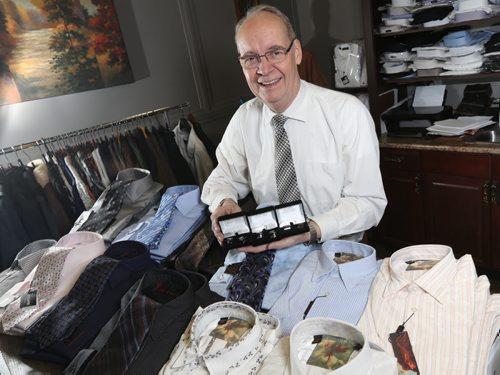 Brandon Sun Brian Bromley shows some of the items to keep a male valentine looking sharp. FOR JILLIAN STORY (Colin Corneau/Brandon Sun)