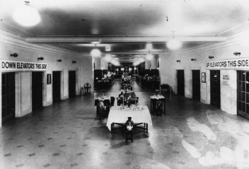 Hudson's Bay Company's downtown store. Third floor looking south from passenger elevator lobby. November 1926 Hudson's Bay Company Archives, Manitoba Archives