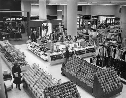 The first floor of the Hudson's Bay Company's downtown store. March 13, 1973 Winnipeg Free Press Archives