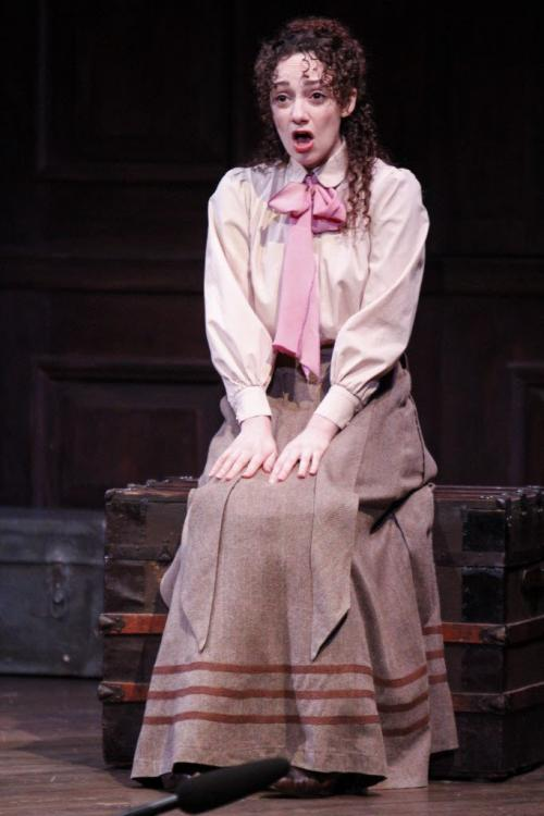 "Actress Megan McGinnis stars as Jerusha Abbott in ""Daddy Long Legs"" at the Royal Manitoba Theatre Centre. Written and directed by John Caird, the story is based in the 20th century, chronicling the letters from a young orphan girl to her mysterious benefactor, who gives her the opportunity to go to college. The play runs from March 14-April 6 at the John Hirsch Mainstage. (JESSICA BURTNICK/WINNIPEG FREE PRESS) March 12, 2013"