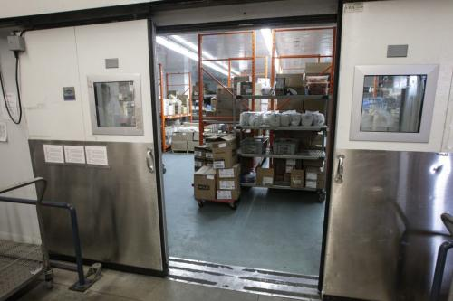 The doors to the huge freezer open during a tour of the Regional Distribution Facility at the WRHA Nutrition and Food Services Centre at 345 De Baets Street in St. Boniface.  130312 - Tuesday, March 12, 2013 -  (MIKE DEAL / WINNIPEG FREE PRESS)