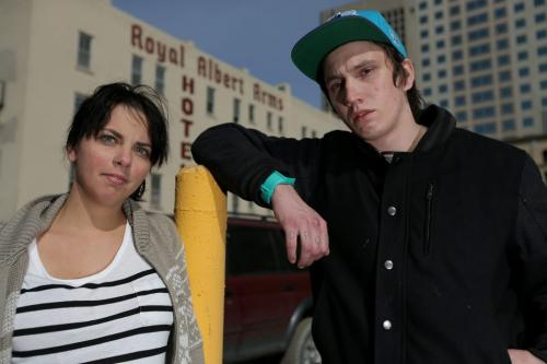 Katie Muirhead, 25 former server, and Mike O'Connell, former linecook at the Albert Street Diner were both recently fired, Friday, April 26, 2013. (TREVOR HAGAN/WINNIPEG FREE PRESS)