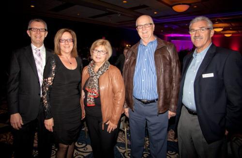 JOHN JOHNSTON / WINNIPEG FREE PRESS  Social Page for May 4th, 2013  Reh-Fit Centre – Winnipeg Convention Centre  (L-R) Albert Krahn (Reh-Fit Board Chair), Susan Krahn, Karen and Mel Zacharias, Mike  Sampson ( Reh-Fit Centre Foundation Chair)