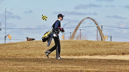 The fairways were swampy, the rough worse and often covered in snow and the greens impossible to read, but James Bergal along with hundreds of others took to the John Blumberg Golf Course Friday for their first golf game of the season. 130503 May 03, 2013 Mike Deal / Winnipeg Free Press