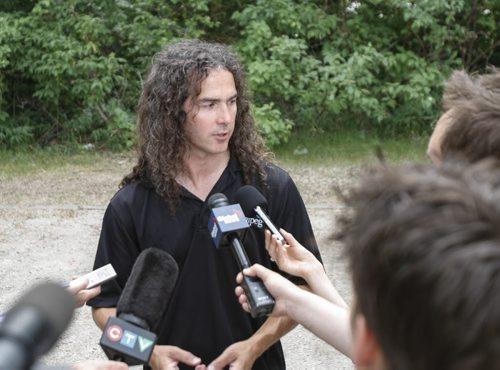City of Winnipeg entomologist Taz Stuart announced today that the city will be fogging for moquitos beginning Sunday, July 7. Saturday, July 6, 2013. (ALEXANDRA PAUL) (JESSICA BURTNICK/WINNIPEG FREE PRESS)