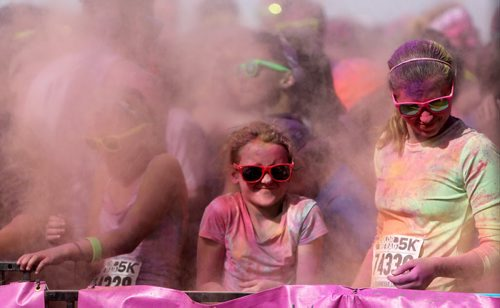 About 13,000 people are expected to run the 5km Color Me Rad run at the Red River Ex grounds today and tomorrow, Saturday, July 20, 2013. (TREVOR HAGAN/WINNIPEG FREE PRESS)