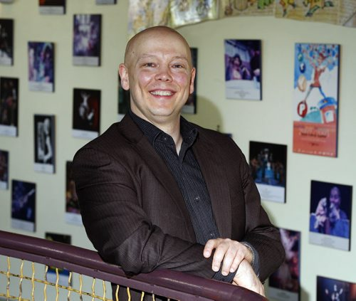 ENT - Manitoba Theatre for Young People artistic director Derek Aasland , good financial  news after a difficult   season. Kevin prokosh story -    KEN GIGLIOTTI / Aug 2 2013 / WINNIPEG FREE PRESS