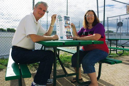 Canstar Community News Aug. 7, 2013 - Valley Gardens Community Centre publicity director Wayne Elliott and office manager Debbie Neufeld are excited for the centre's Family Fun Days slated for Aug. 30 and 31. (DAN FALLOON/CANSTAR COMMUNITY NEWS/HERALD)