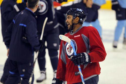 Winnipeg Jets practice at MTS Centre. #33 Dustin Byfuglien. BORIS MINKEVICH / WINNIPEG FREE PRESS. Sept. 20, 2013