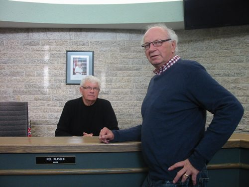 Altona Mayor Melvin Klassen, on the left, and Coun. Ted Klassen are brothers on council but the similarities to Toronto's Ford brothers ends there. BILL REDEKOP/ WINNIPEG FREE PRESS  NOVEMBER 15, 2013