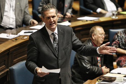 Leader of the provincial opposition party Brian Pallister during question period in the Manitoba Legislature Thursday afternoon.  131205 December 5, 2013 Mike Deal / Winnipeg Free Press