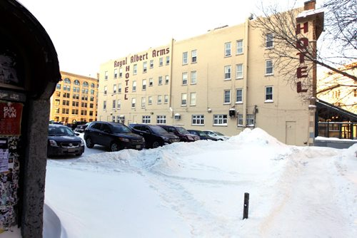 Albert Street Business block btw Royal Albert and St. Charles. BORIS MINKEVICH / WINNIPEG FREE PRESS January 7, 2014