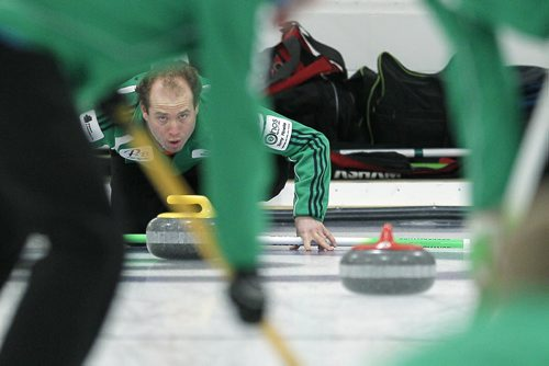 January 20, 2014 - 140120  -  Sean Grassie played Richard Daneault  in the Asham final of the Manitoba Open at the Assiniboine Memorial Curling Club Monday, January 20, 2014. John Woods / Winnipeg Free Press