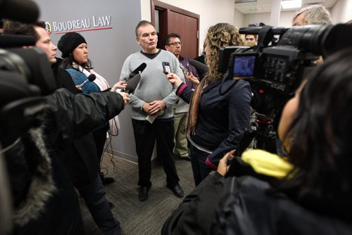 George Beaulieu Director of Education for Sandy Bay First Nation during a press conference that the Chief called at the bands lawyer's office in Winnipeg.  140205 - February 05, 2014 MIKE DEAL / WINNIPEG FREE PRESS