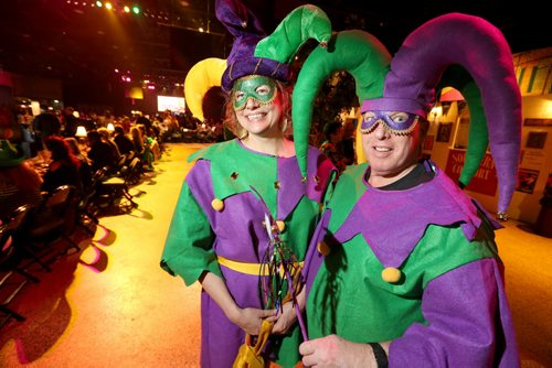 Leta J., and Jeff P. at Mardi Gras at the Winnipeg Convention Centre, Saturday, February 15, 2014. (TREVOR HAGAN/WINNIPEG FREE PRESS)
