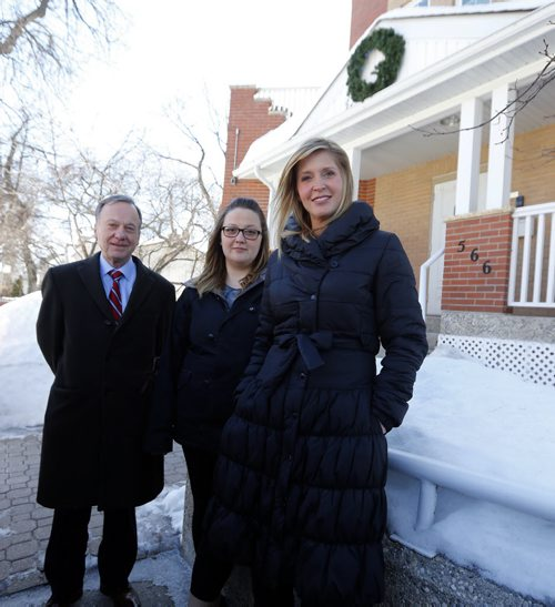 Philanthropy  Page  - Ronald MacDonald House , LtoR , Rick Adams Founder of the local house , Dara Courpice  , her child is a premature and is in hospital (kevin has photo of child)   – Allison Kesler  executive director ... kevin rollason story  Mar. 14 2014 / KEN GIGLIOTTI / WINNIPEG FREE PRESS