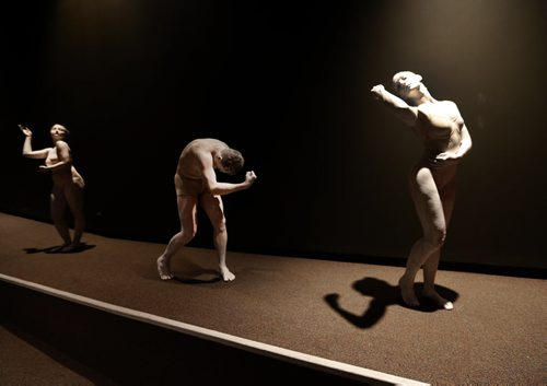 ENT. WAG announces Monumental Exhibition at the Wag celebrating Greco-Roman Collection of Berlin  and used live monuments , dancers from Contemporary Dancers to illustrate the announcement  June 19 2014 / KEN GIGLIOTTI / WINNIPEG FREE PRESS