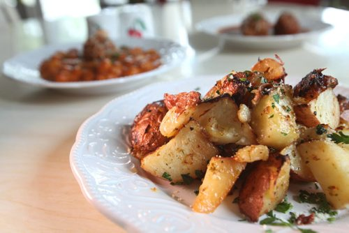 Restaurant Review - Little Maria's  Italian Rosemary Roasted Potatoes. Aug 02, 2014 Ruth Bonneville / Winnipeg Free Press