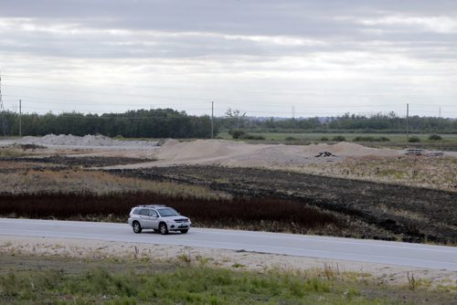 Centreport Canada Way and the Perimeter Highway. Centreport Canada way ends there and construction seems to be slow after it hits Perimeter. BORIS MINKEVICH / WINNIPEG FREE PRESS  Sept. 17, 2014