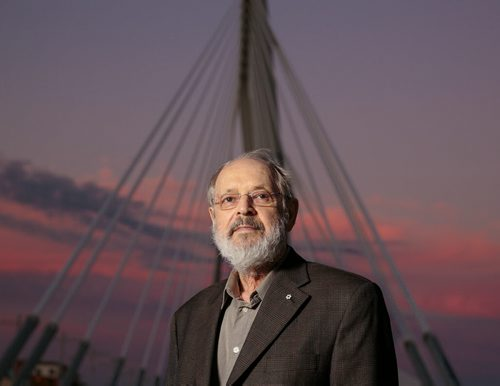Etienne Gaboury - photographed at the Esplanade Riel August 2014 Melissa Tait / Winnipeg Free Press