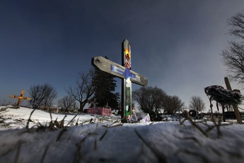 Covered in fresh fallen snow stands the gravesite and marker of Eugene Fontaine and his daughter Tina Fontaine ¾ the Manitoba teenager whose death has prompted renewed calls for a national inquiry into missing and murdered aboriginal women after her body was found the the Red River in August of 2014.  Nov 26,  2014 Ruth Bonneville / Winnipeg Free Press