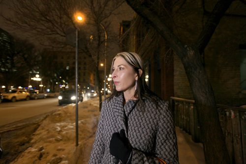Jane Olijnek is asked her opinion on  the proposal for paid parking during the evening hours in downtown Winnipeg.   See Randy's story.  Jan 16, 2015 Ruth Bonneville / Winnipeg Free Press