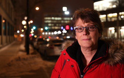 Theresa Hunt is asked her opinion on  the proposal for paid parking during the evening hours in downtown Winnipeg.   See Randy's story.  Jan 16, 2015 Ruth Bonneville / Winnipeg Free Press