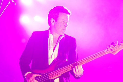 Gord Sinclair (bassist) of the Tragically Hip performs at MTS Centre Saturday night.   Feb 14, 2015 Ruth Bonneville / Winnipeg Free Press