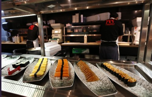 Ye's Buffet on St. James St. Restaurant Review. Sushi dishes at the buffet. Marion Warhaft  story Wayne Glowacki/Winnipeg Free Press April 1 2015