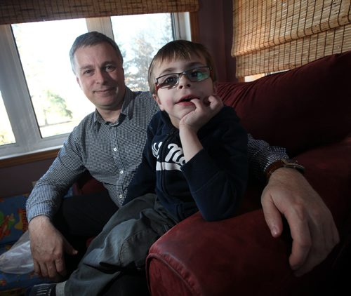 Donald Lepp and his son Russell. Feature is on the pediatric cardiac surgery program 21 years after it was shut down after too many children died. The Lepp family weren't part of that, but they have some comments on the current surgical system (shipping kids out of province to either Edmonton, Vancouver or Toronto) and future thoughts … Russell had a heart transplant so that's how they are connected to this. See Kevin Rollason story. April 13, 2015 - (Phil Hossack / Winnipeg Free Press)