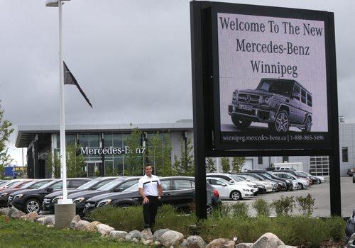 The winnipeg free press store for Mercedes benz winnipeg
