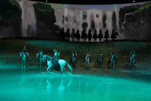 Around 100 VIP's were invited to an exclusive 50-minute sneak peek of Odysseo, Cavalia's larger-than-life theatrical production, Wednesday afternoon at the gigantic tent set up just off of Kenaston Blvd. The preview featured visual highlights and unique moments of the show which has its opening night Thursday, September 10. 150909 - Wednesday, September 09, 2015 -  MIKE DEAL / WINNIPEG FREE PRESS