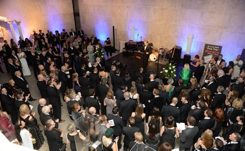 Stephen Borys (Winnipeg Art Gallery director & CEO) speaks to guests at the WAG ball on Oct. 17, 2015. Photo by Eric Au