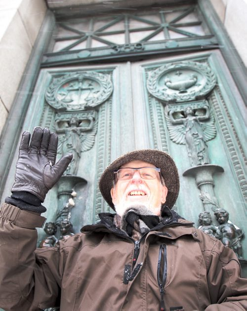 """David McDowell–is sort of the """"godfather"""" of Winnipeg's heritage preservation movement. His 1970s fight to save the Bank of Commerce (Now Millennium Centre) at 389 Main Street and neighboring Bank of Hamilton building at 395 Main Street led to the creation of the city's first bylaw to protect heritage buildings see Christian Cassidy story–Dec 17, 2015 ( Eds no access at time of shoot to inside of building- perhaps we can run a file shot of the inside of the Millennium Centre) (JOE BRYKSA / WINNIPEG FREE PRESS)"""