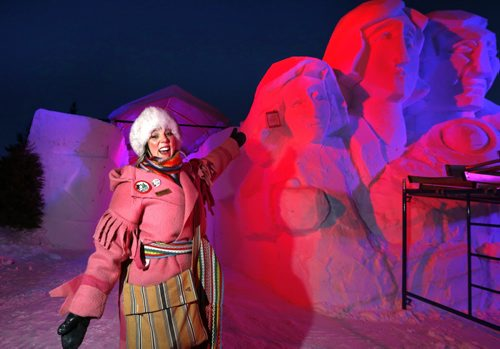 Ginette Lavack Walters, Executive Director of the Festival du Voyageur was at Voyageur Park early Friday early morning doing media interviews and wants to welcome everyone to the Festival that begins Friday  and runs to Feb.21. the Wayne Glowacki / Winnipeg Free Press Feb. 12 2016