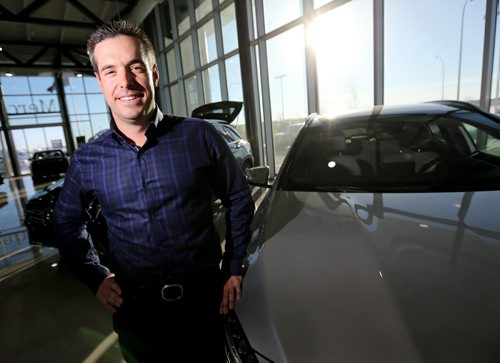 Brian Lowes, president of the Manitoba Motor Dealers Association, at Mercedes, for Murray McNeil, Friday, February 12, 2016. Last year was another record year for new car sales, with SUV's and Trucks leading the way. (TREVOR HAGAN/WINNIPEG FREE PRESS)