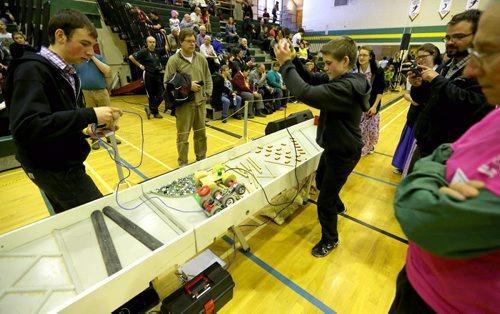 TREVOR HAGAN / WINNIPEG FREE PRESS The 21st annual Manitoba Robot Games, being held at Tec-Voc High School, Saturday, March 19, 2016.