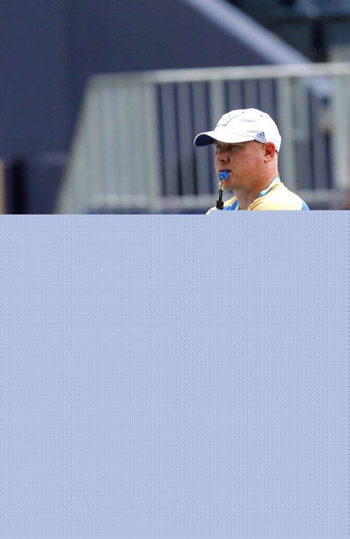 BORIS MINKEVICH / WINNIPEG FREE PRESS WINNIPEG BLUE BOMBERS - Practice at Investors Group Field. Coach Paul LaPolice.  July 5, 2016