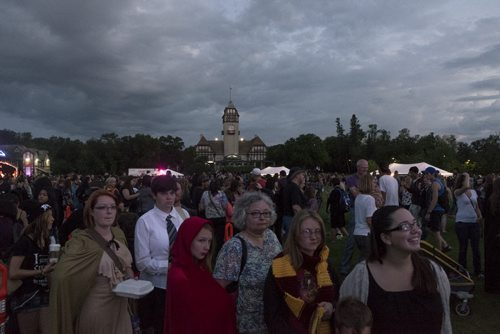"ZACHARY PRONG / WINNIPEG FREE PRESS  Thousands of people gathered at Assiniboine Park for the release of the new Harry Potter book, ""Harry Potter and he Cursed Child"". JK Rowling, the author of the wildly popular series, says it will be the last Harry Potter Book. July 30, 2016."
