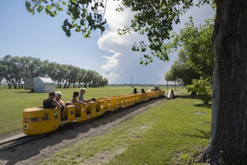 "ZACHARY PRONG / WINNIPEG FREE PRESS  The ""Tinkertown Express"" runs for half a mile. August 11, 2016."
