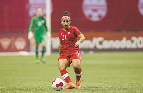 Canstar Community News Women's International Friendly 28 October 2014 - Vancouver, BC, Canada Canada Soccer by Bob Frid  Desiree Scott