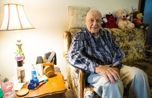 MIKE DEAL / WINNIPEG FREE PRESS World War Two veteran Gordon Herd has been a part of the Manitoba Follow Up Study since the 1940s. The study has followed more than 3,800 young healthy men who entered the air force during the Second World War through their lives by checking with their blood pressure, EKG, etc. Gordon is one of 250 or so who are still alive. 161011 - Tuesday, October 11, 2016 -