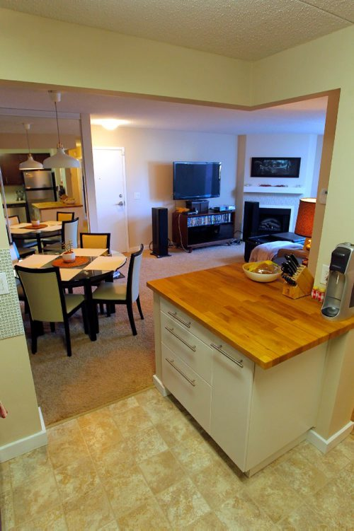 BORIS MINKEVICH / WINNIPEG FREE PRESS RESALE HOMES - Unit 5-142 Regis Drive. Updated kitchen looking out to dining room and living room, behind right. Nov 15, 2016