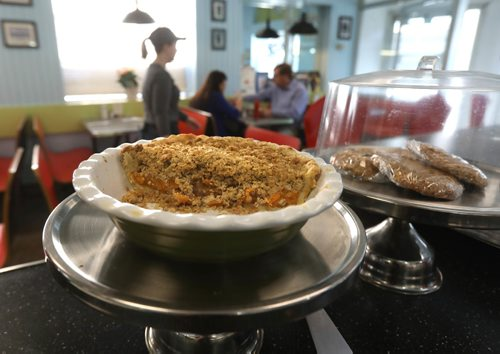 RUTH BONNEVILLE /  WINNIPEG FREE PRESS  Sunday City piece: White Star Diner, new location at 258 Kennedy St.  owner Bruce Smedts.  Photos of their new location recently renovated.  Homemade Peach Pie.  See Dave Sanderson story.    May 02, 2017