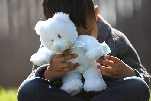 """RUTH BONNEVILLE /  WINNIPEG FREE PRESS  Clinic Psychology Manitoba  Portraits of 3-year-old holding his teddy bear for story on """"worry bear"""" .   A group of clinical psychologists headed up by  Dr. Rehman Abdulrehman set up a """"Worry Bear"""" tent at the Teddy Bear's Picnic this year. For the first time kids will be able to get mental health care for their teddy bears at the annual event.   See Carol Sanders 